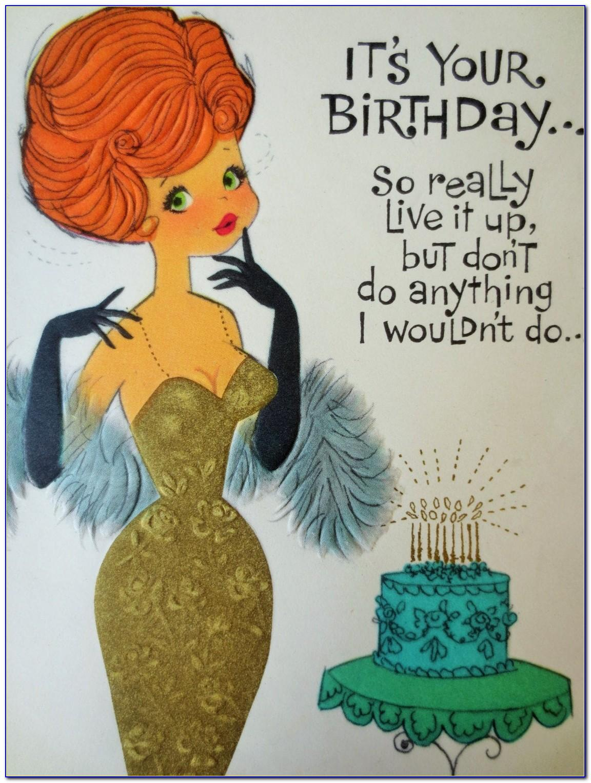 Free Vintage Birthday Card Template