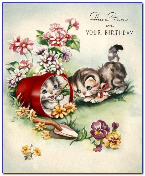 Free Vintage Birthday Cards