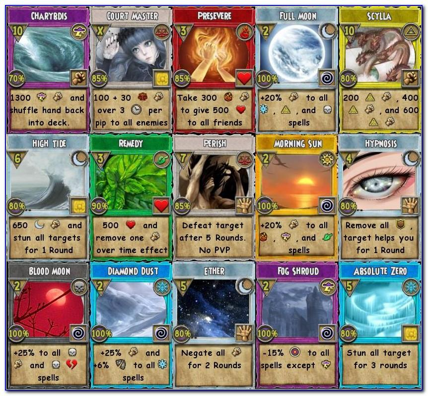 Free Wizard101 Cards