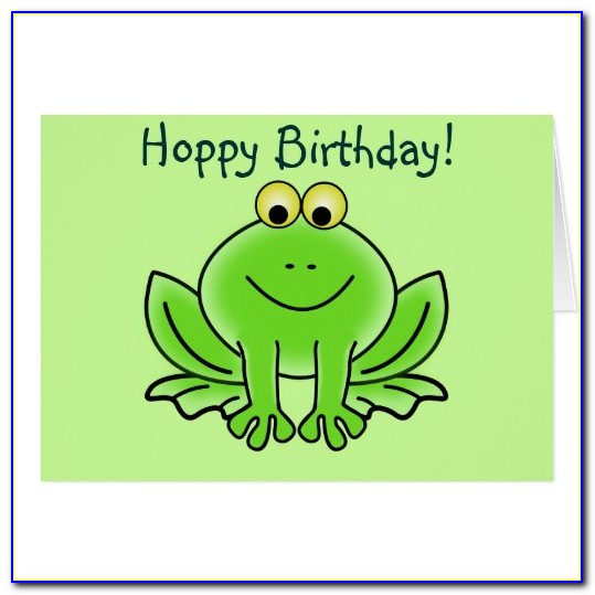 Frog Birthday Card Sayings