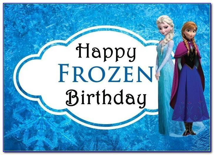 Frozen Birthday Card Printable Free