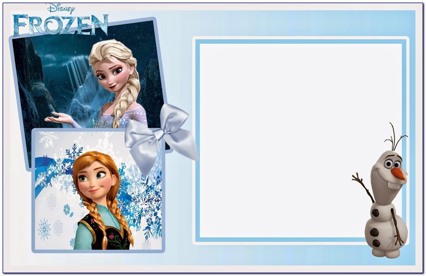 Frozen Birthday Invitation Free Printable