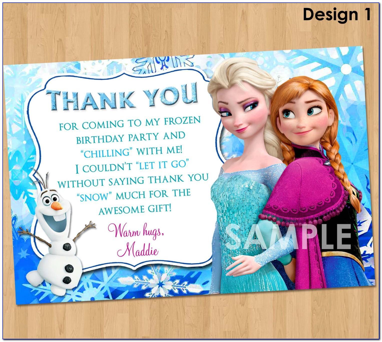 Frozen Happy Birthday Card Printable