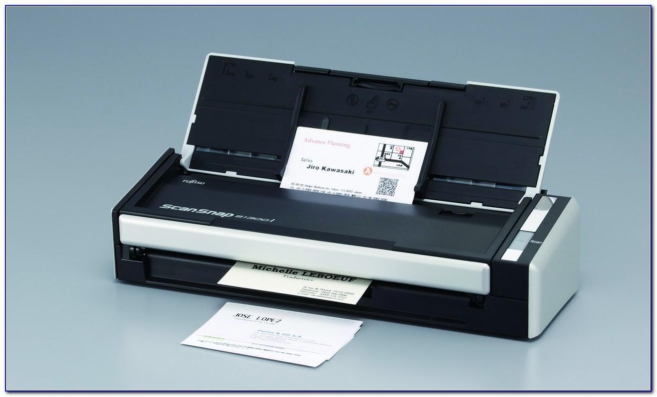 Fujitsu Scansnap Business Card Scanner