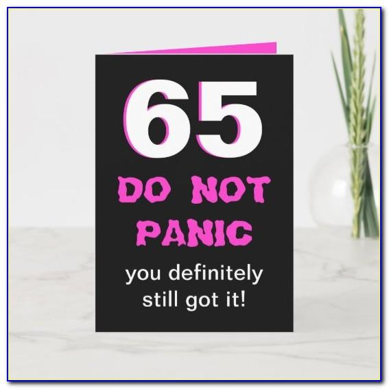 Funny 65th Birthday Card Messages