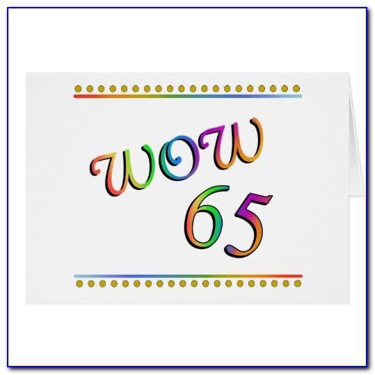 Funny 65th Birthday Card Verses