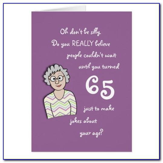Funny 65th Birthday Cards Male