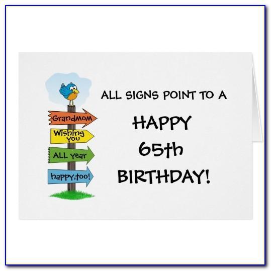 Funny 65th Birthday Cards Uk