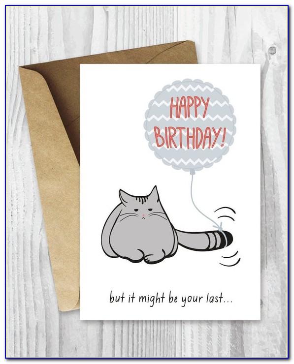 Funny Black Cat Birthday Cards