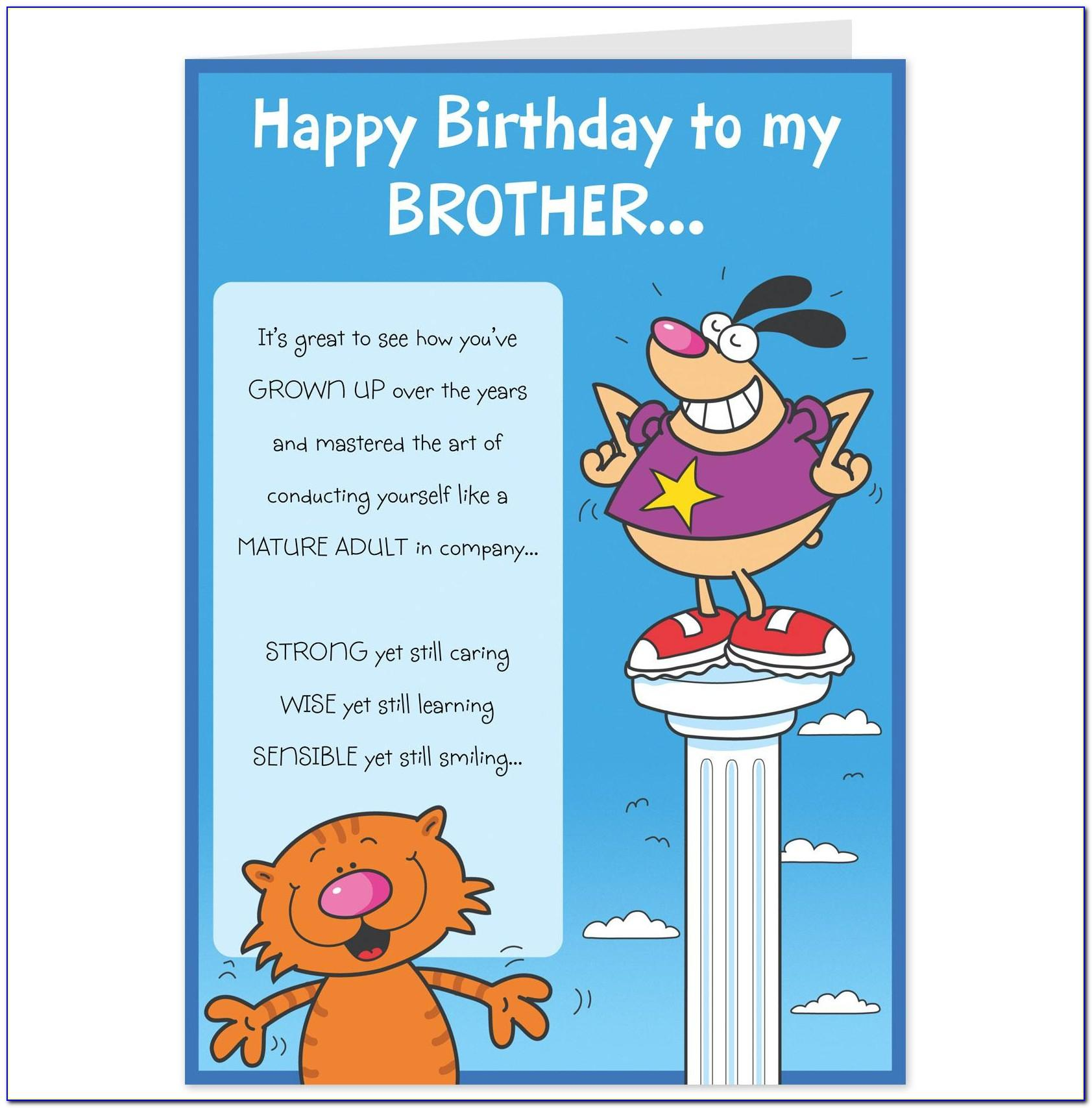 Funny Brother Birthday Card Messages