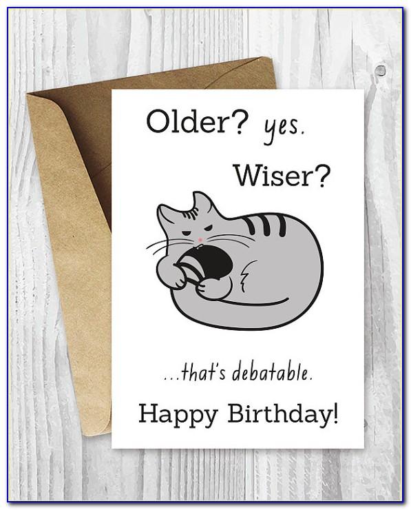 Funny Cat Birthday Card Sayings