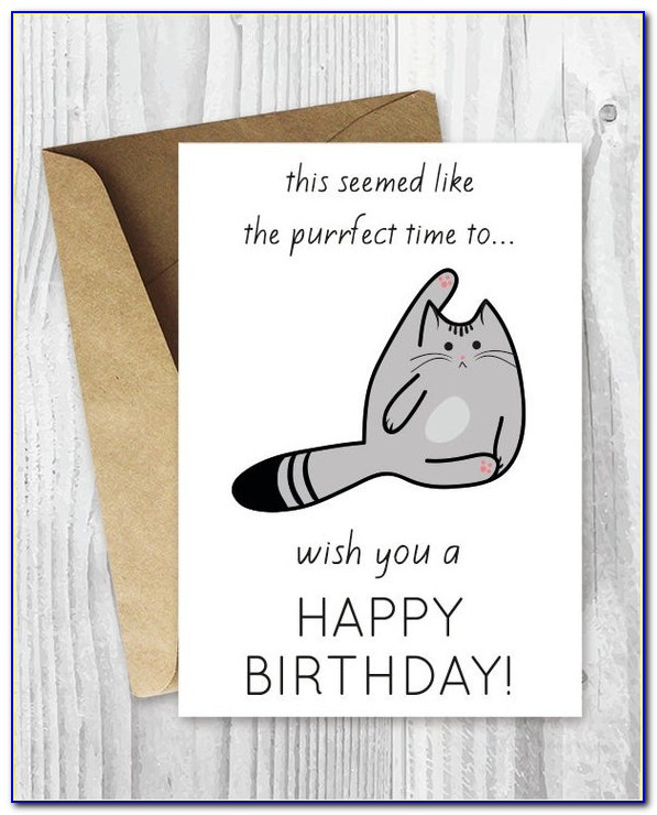Funny Cat Birthday Cards Online