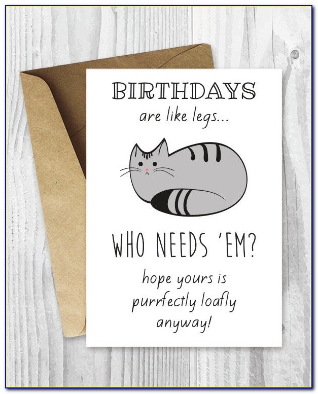 Funny Cat Themed Birthday Cards