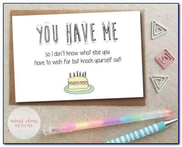 Funny Fiance Birthday Card