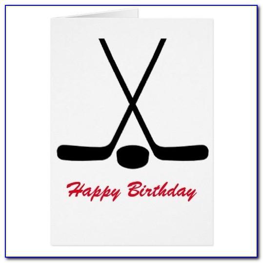 Funny Hockey Birthday Card