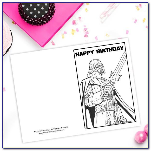 Funny Star Wars Birthday Card Printable