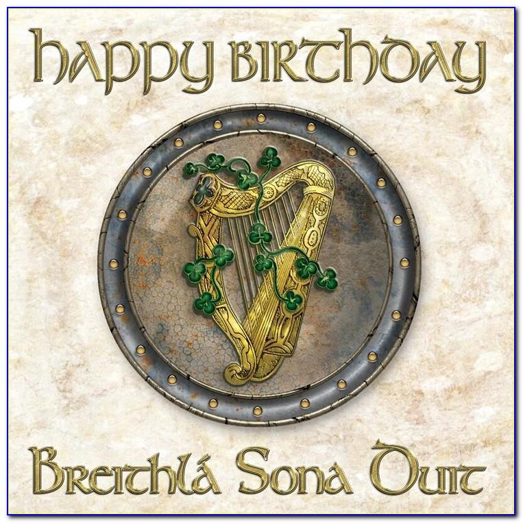 Gaelic Birthday Cards