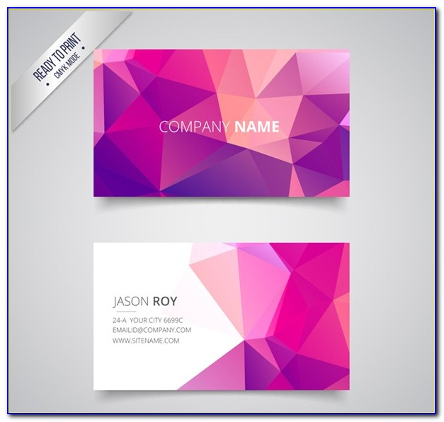 Geometric Business Card Backgrounds