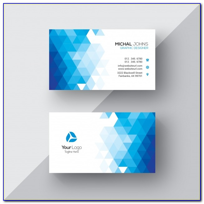 Geometric Floral Business Cards