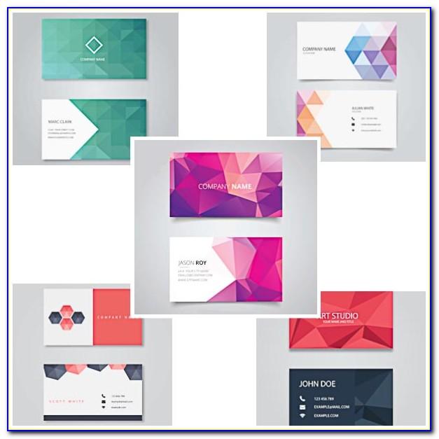 Geometric Shaped Business Cards