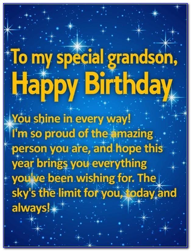 Grandson Birthday Card Age 3