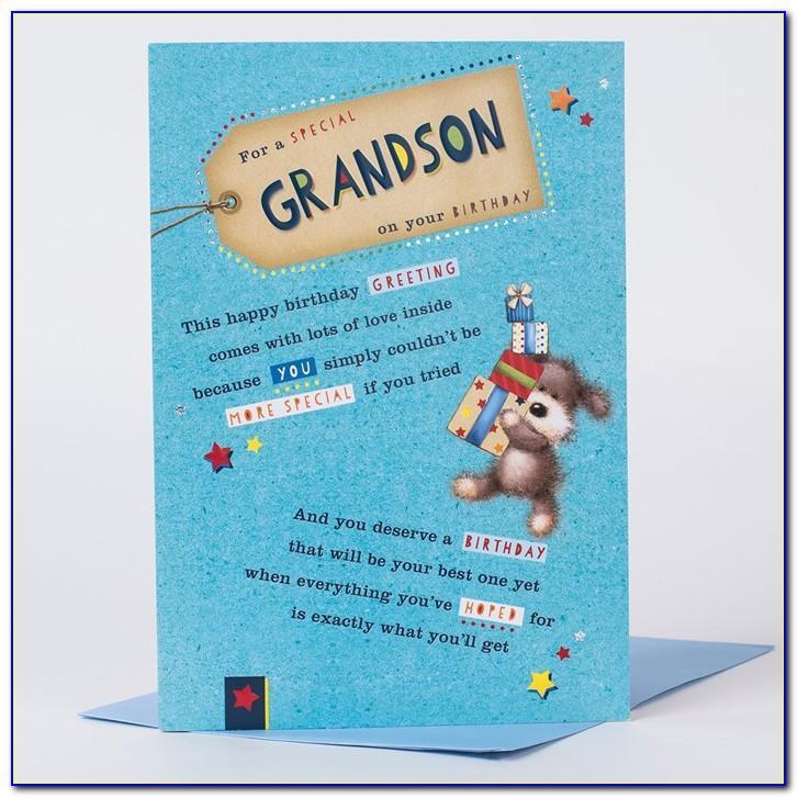 Grandson Birthday Card Age 6