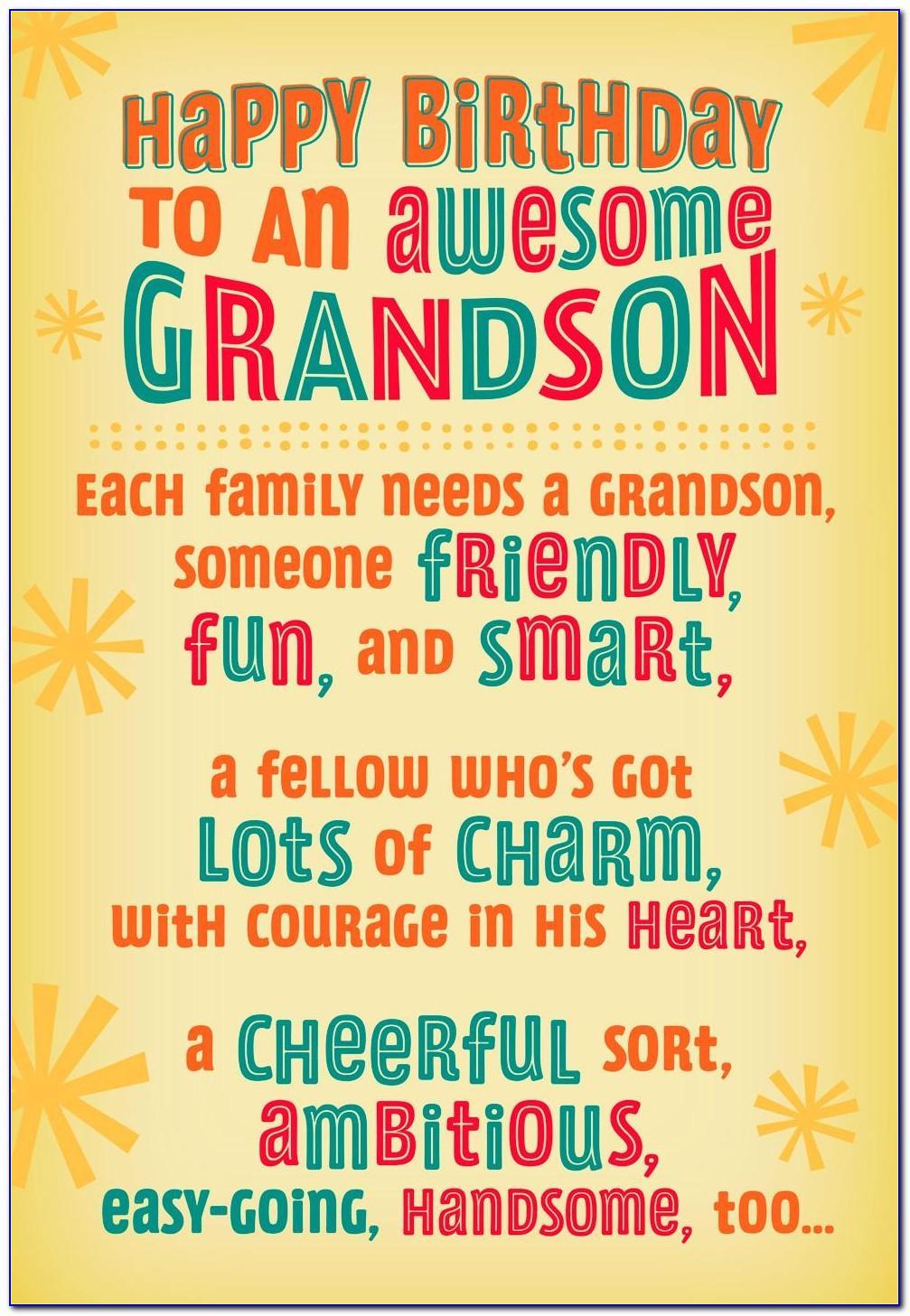Grandson Birthday Card Verses