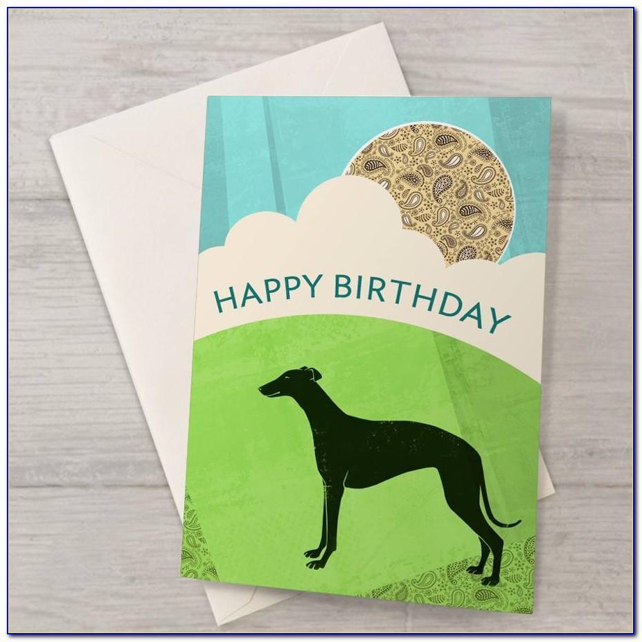Greyhound Birthday Card