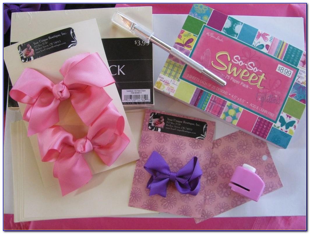 Hair Bow Business Card Designs