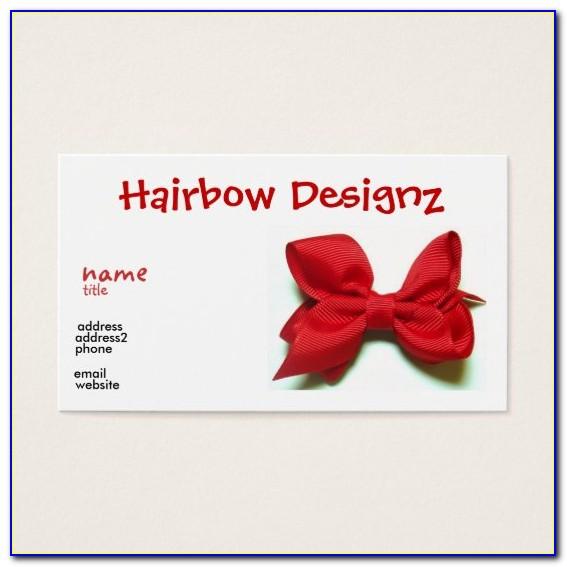 Hair Bow Business Card Templates