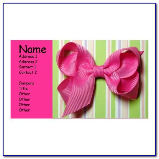 Hair Bow Business Cards