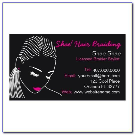 Hair Stylist Business Card Template Free