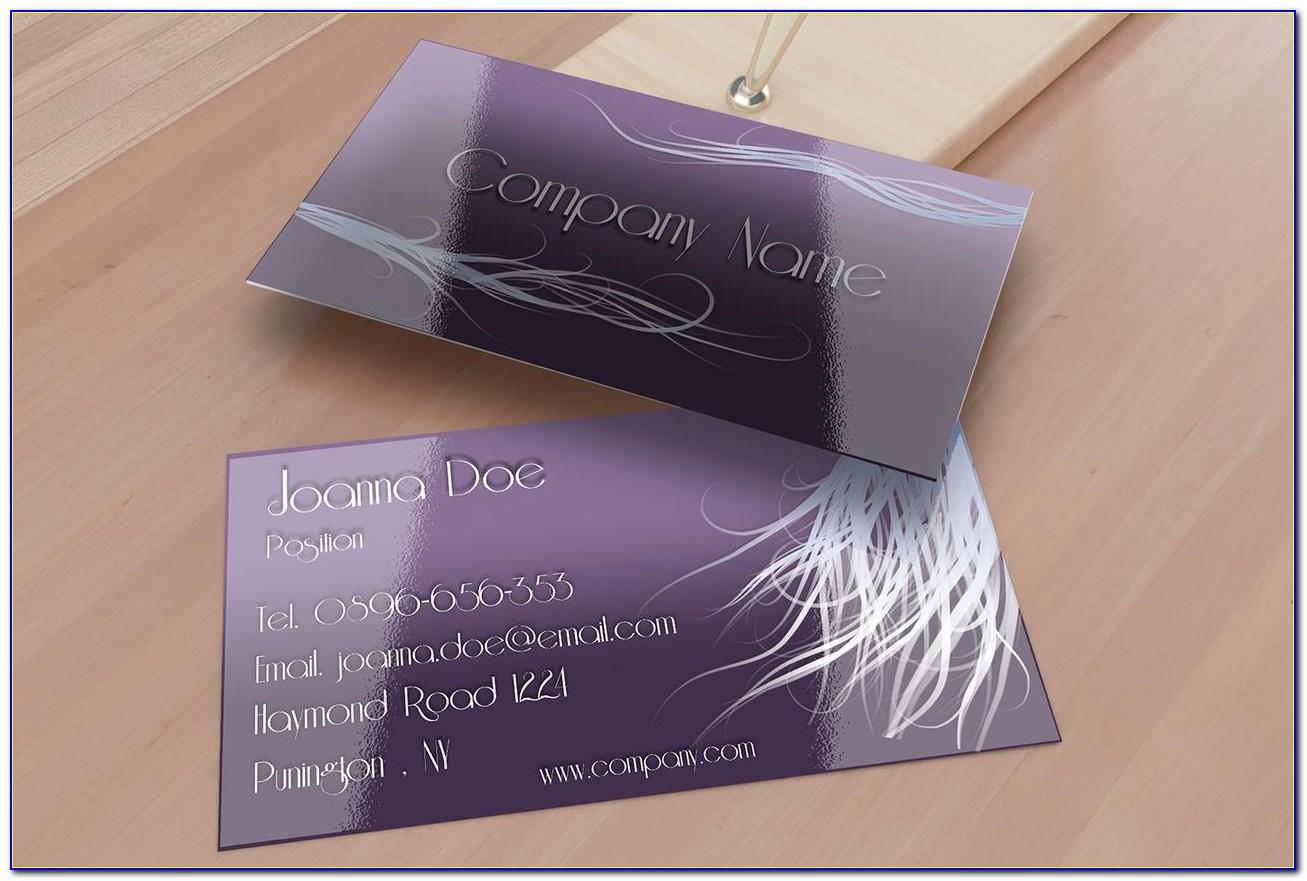 Hair Stylist Business Cards Examples