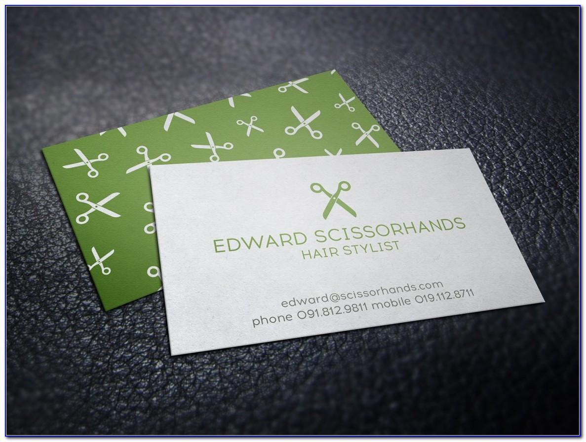 Hair Stylist Business Cards Templates
