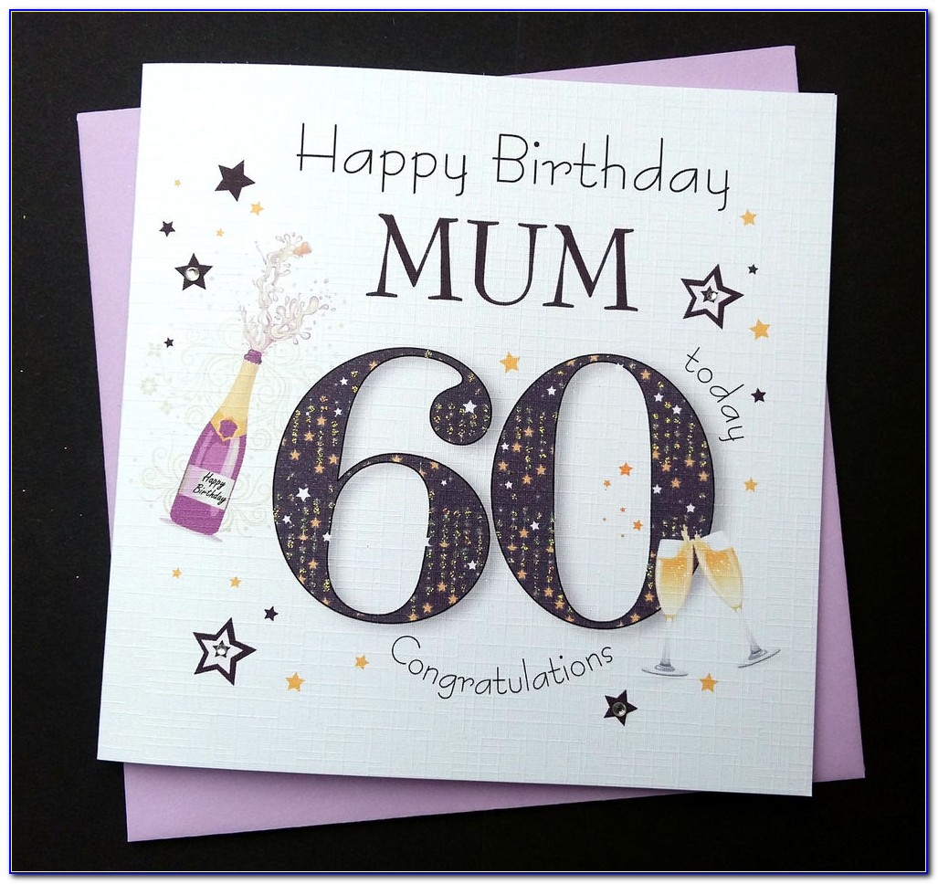 Handmade 60th Birthday Cards For Mum