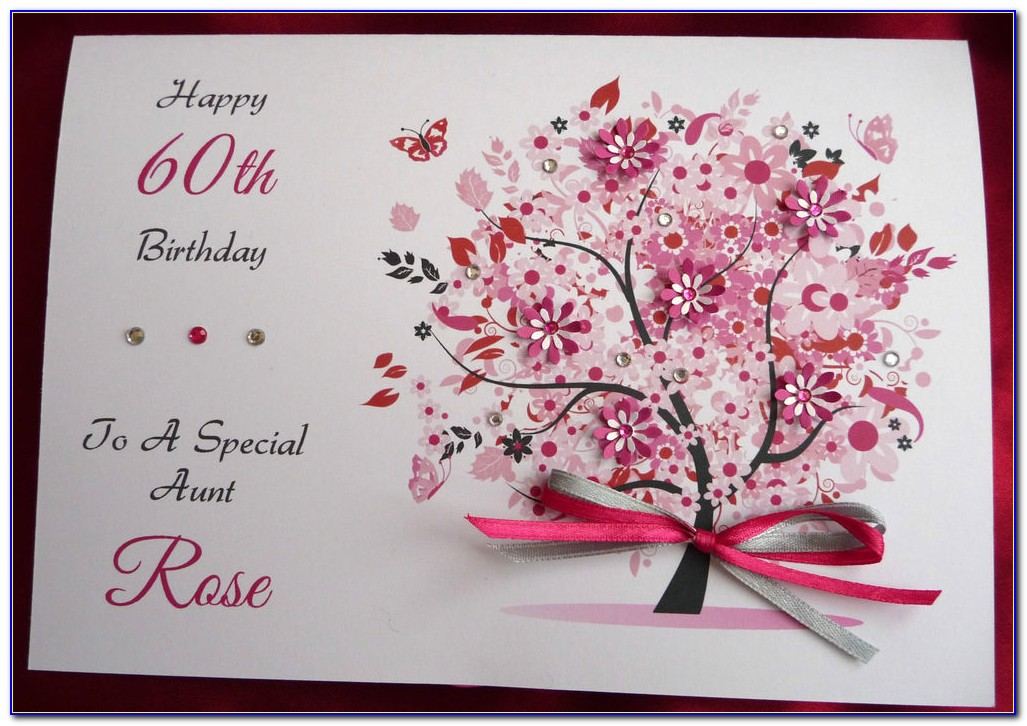Handmade 60th Birthday Cards For Sister