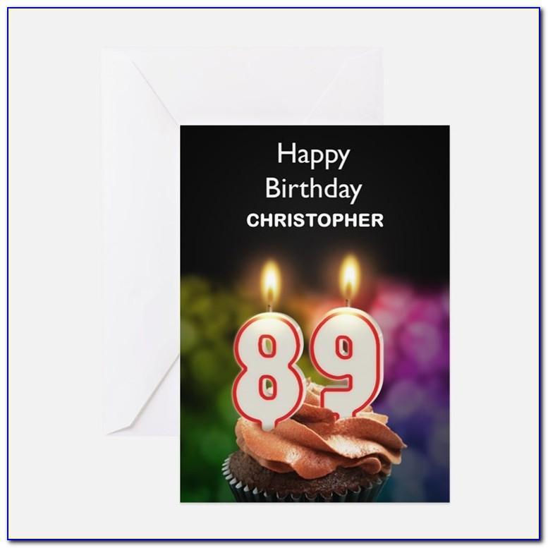 Happy 89th Birthday Card