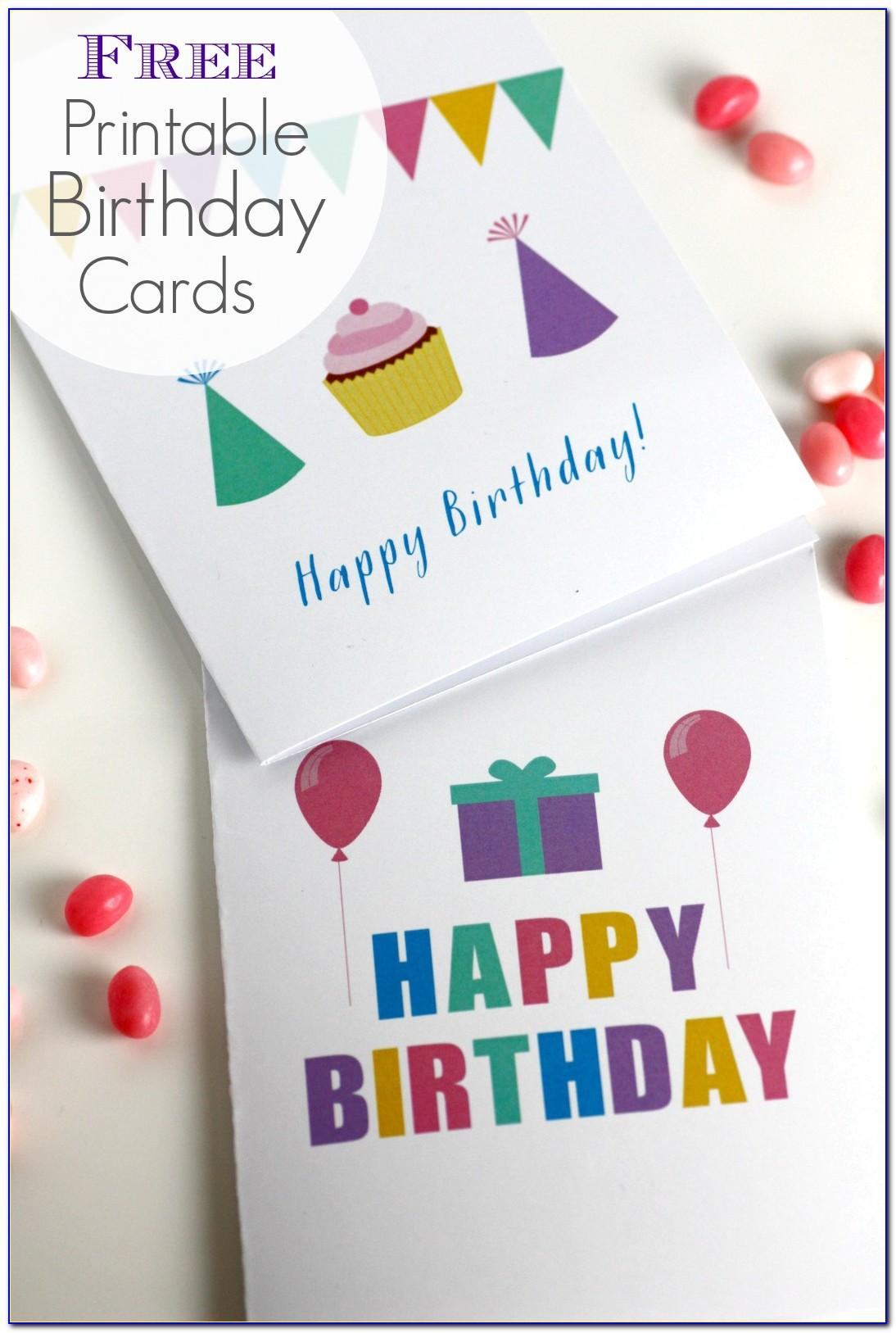 Happy Birthday Card For Coloring Free