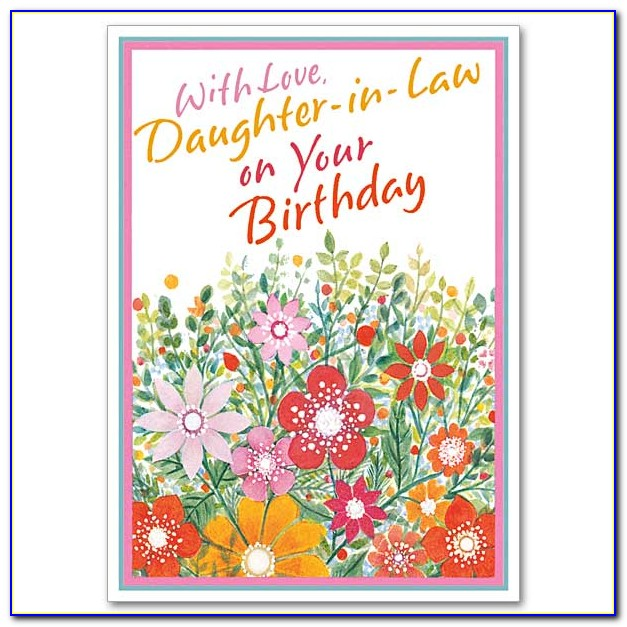 Happy Birthday Card For My Daughter In Law