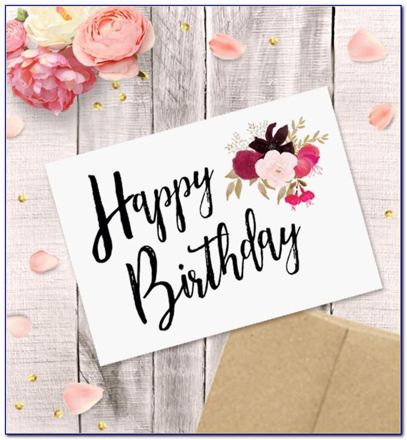 Happy Birthday Card Pdf