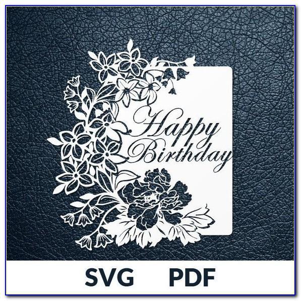Happy Birthday Card Svg