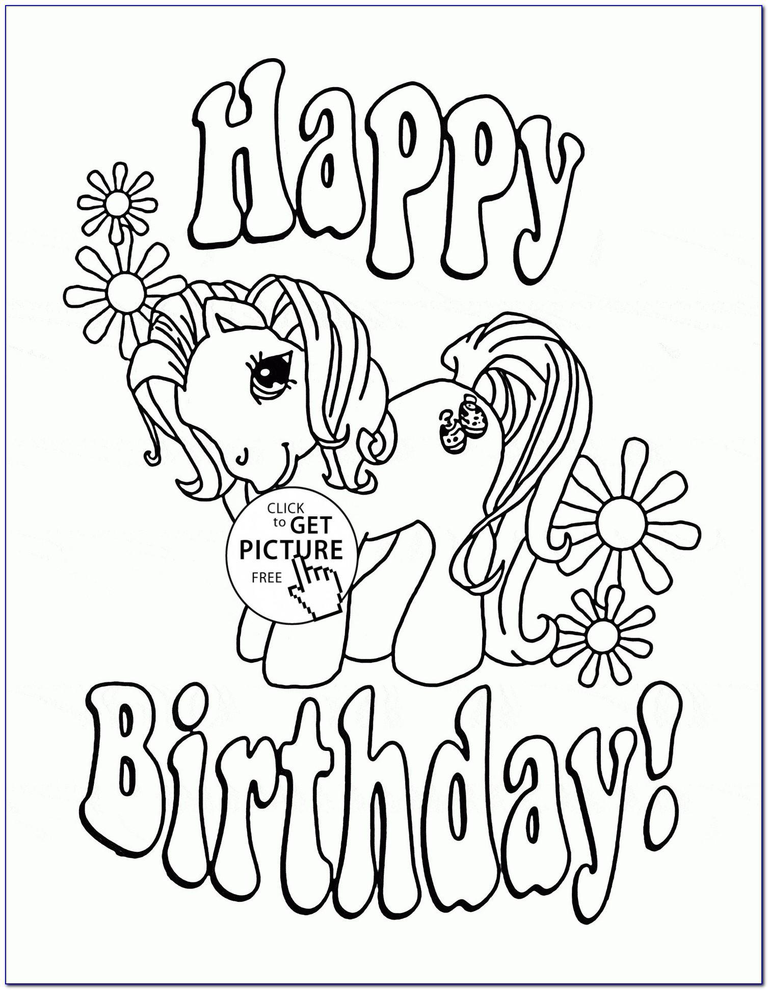 Happy Birthday Card Template Pdf