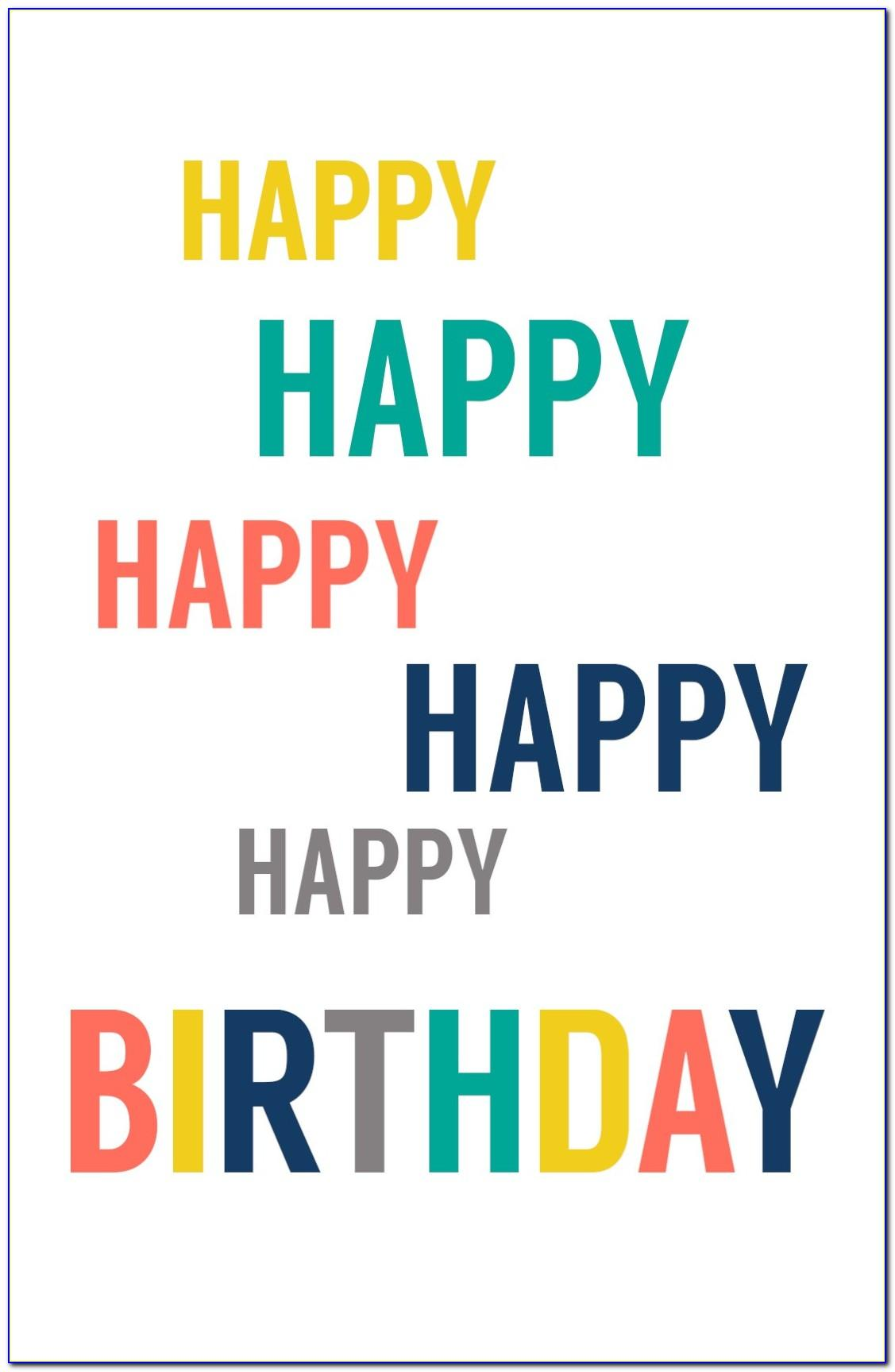 Happy Birthday Cards Printable For Free