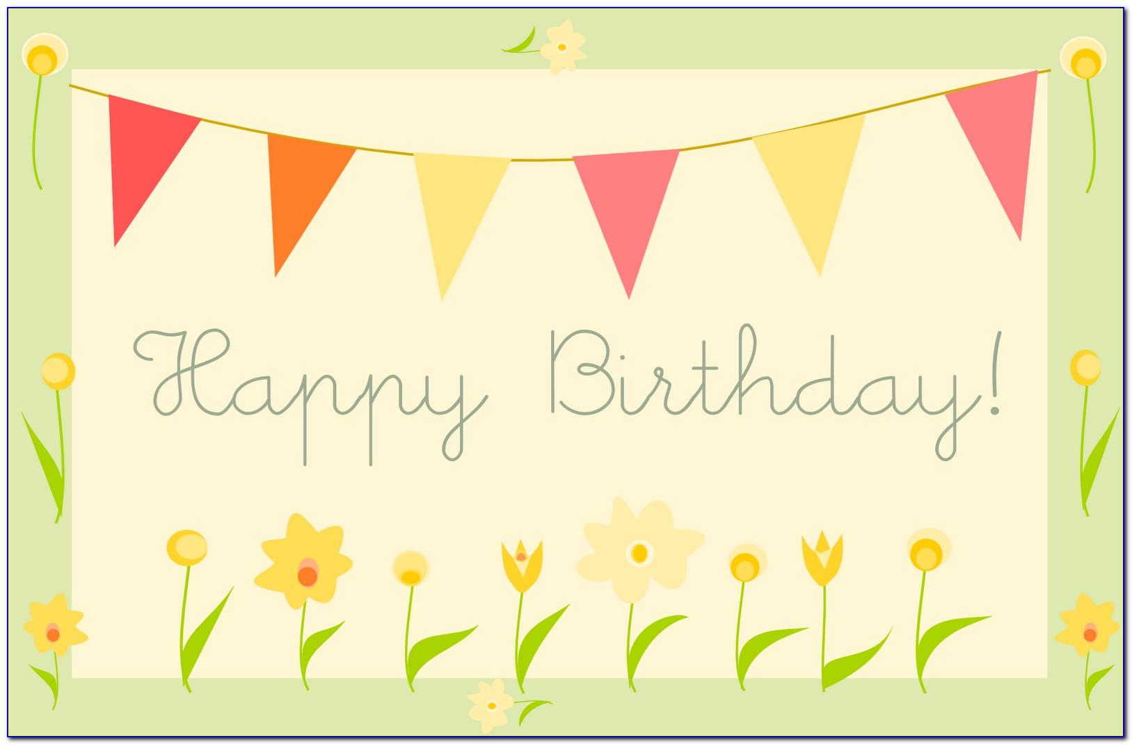 Happy Birthday Cards To Color And Print For Free