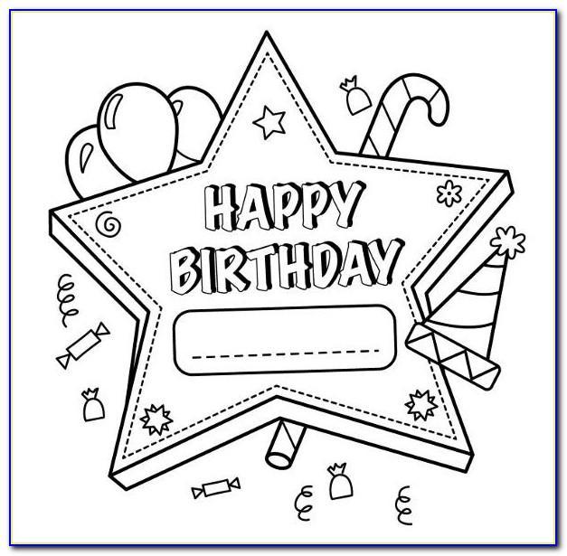 Happy Birthday Coloring Card Pdf