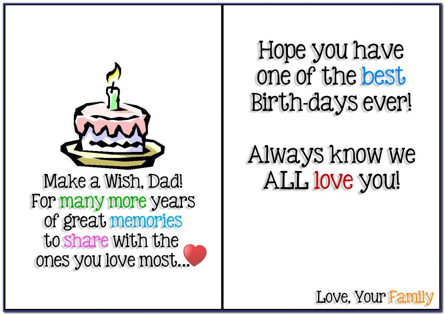 Happy Birthday Dad Cards Printable Free