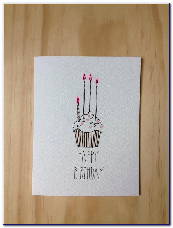 Happy Birthday Draw Card