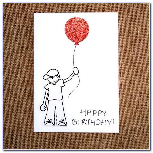 Happy Birthday Drawing Card