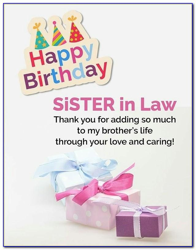 Happy Birthday Wishes Card For Sister In Law