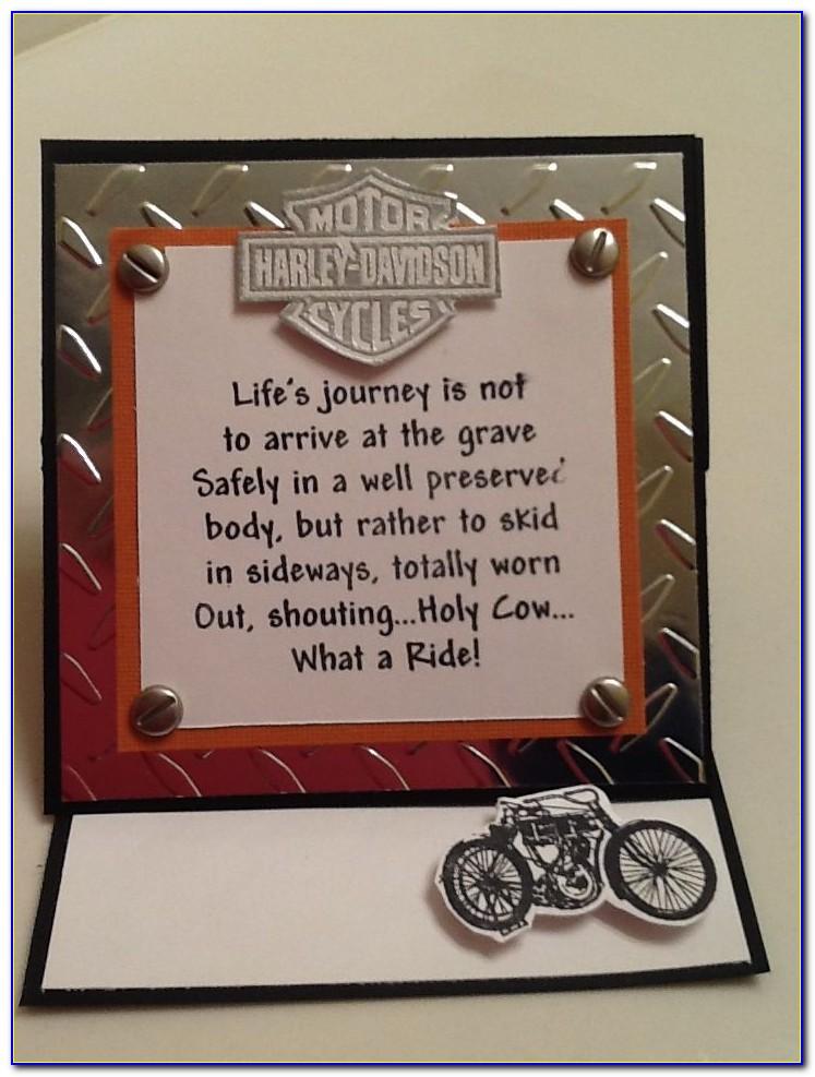 Harley Davidson 60th Birthday Cards